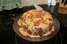 Chocolate Peanut Butter Cake in tje Rock Crock.