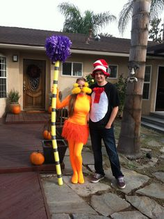 DIY Halloween Costume- The Lorax and The Cat In The Hat