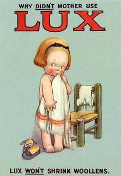 Why didn't Mother use Lux? Lux postcard from Mabel Old Posters, Posters Vintage, Retro Poster, Vintage Labels, Vintage Signs, Vintage Ads, Vintage Images, Retro Images, Vintage Tools