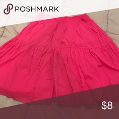 Pink Skirt Pink Skirt. Never worn has just been hanging up in closet. Old Navy Skirts A-Line or Full