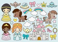 Premium Vector Clipart Kawaii Magical by LookLookPrettyPaper Kawaii 365, Chibi Kawaii, Kawaii Doodles, Kawaii Cute, Kawaii Anime, Kawaii Drawings, Cute Drawings, Mermaid Clipart, Clip Art