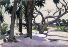 Edward Hopper (Am. 1882-1967), Folly Beach, Charleston, South Carolina, 1929, aquarelle gouachée, fusain sur papier, H : 35,2 cm,... Plus