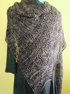 Raveller TinerW's Uncia (patttern by Lucy Hague available in The Book of Haps) knit in Malabrigo Mechita