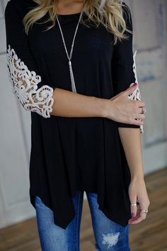 How Sweet It Is Tunic (Black) - PiaceBoutique.com $32.99