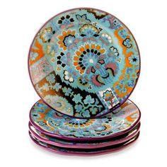 Tracy Porter® 8.5-Inch Dessert Plate Set of 4 for Poetic Wanderlust® in Rose Boheme - BedBathandBeyond.com