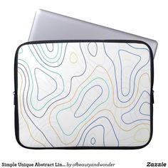 Simple Unique Abstract Lines Custom Laptop, Best Laptops, Abstract Lines, Personalized Products, Laptop Sleeves, Simple, Unique, Gifts, Collection