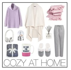 COZY AT HOME outfit for today by tavostilius on Polyvore featuring Alexander McQueen, Joseph, Victoria's Secret, Beats by Dr. Dre, abcDNA, Nest Fragrances, Reed & Barton and Kate Spade