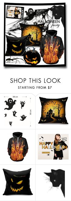"""Rosegal Halloween giveaway"" by jecakns ❤ liked on Polyvore featuring interior, interiors, interior design, home, home decor, interior decorating, Halloween, giveaway and Halloweenparty"