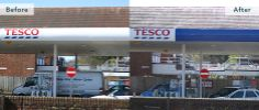 Vicom4® Outdoor gave this Tesco canopy a brand new look without replacing the panels