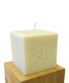 Vine Monogram Soy Candle