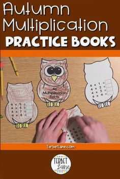 Achieving multiplication facts fluency takes a lot of repetition and practice, keep it fun and engaging with this set of autumn themed practice books. In this resource students make their own pumpkin or owl multiplication facts books combining art and math to increase multiplication fact fluency while keeping students engaged. Both designs include each fact family 1-12. #autumn #multiplication #terbetlane #thirdgrademath #mathcenters