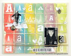 Layers of ink - Watercolour Canvas Tutorial by Anna-Karin. Made for Simon Says Stamp Monday challenge with Sizzix dies by Tim Holtz.