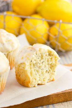 You won't believe these lemon coconut poppy seed muffins are dairy-free! Moist tender and full of lemon-coconut flavor these are perfect for spring! Just Desserts, Delicious Desserts, Dessert Recipes, Yummy Food, Tasty, Lemon Desserts, Brunch Recipes, Macarons, Lemon Coconut