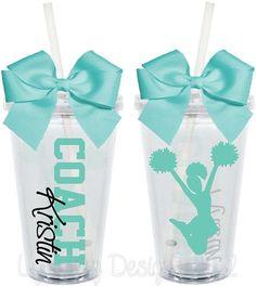 Cheer Coach Cups by LylaBugDesigns