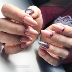 Trendy Nail Colors and Designs that Will Make You Fashionable in 2018 ★ Nude Nail Colors with Half Moon Design Picture 2 ★ See more: http://glaminati.com/nail-colors/ #nailcolors #naildesigns