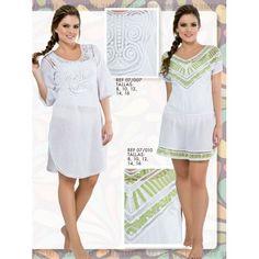 07/007 SALIDA DE BAÑO EN BLUSON EN PATECABRA Y ARAÑA White Dress, Dresses, Fashion, Vestidos, Hand Embroidery, Lace, Bruges, Hand Made, Moda