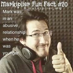 May need to fact check this... I know he had a bad relationship, but I'm not sure if it was abusive or not...