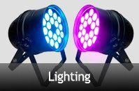 Lighting Hire for daily rental and long tern with best prices from Inhouseav.