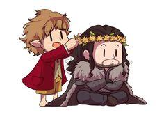 Thorin & Bilbo - the-hobbit Fan Art