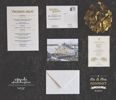 Retro style wedding stationary for a London-Budapest wedding with letterpress invitation Letterpress Invitations, Invites, Wedding Stationary, Retro Style, Budapest, Retro Fashion, London, Cards, Design