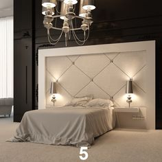 Bedroom, Astonishing Modern Headboard Digital Imagery With Contemporary Bedroom Curtains And Bed Frame Built In Nightstand Also Simple Bedroom Curtain Patterns : Modern Headboard Design Ideas For Contemporary Bedroom