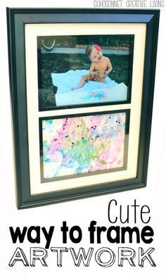DIY Mothers day gift Cute Way To Frame Your Child's Artwork - SohoSonnet Creative Living