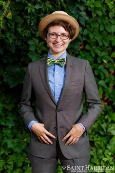 Saint Harridan is a San Francisco-based clothing company that specializes in custom-made suits and dress shirts for masculine women and trans men. Custom Tailored Suits, Custom Made Suits, Tailored Fashion, Trans Man, Professional Wardrobe, Business Wear, Dress For Success, Clothing Company, Suit Jacket