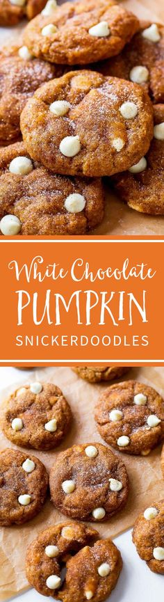 These White Chocolate Pumpkin Snickerdoodles are a MUST try! So soft & chewy without being cakey using a few kitchen tested tricks. Recipe by sallysbakingaddiction.com (Favorite Desserts Deserts)
