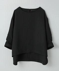 JEANASIS(ジーナシス)のタックスリーブプルオーバーシャツ/568377 (シャツ/ブラウス)|ブラック