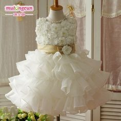 free shipping 2012 new arrive wedding gowns Princess pageant dress for Little baby girls Christmas clothes White Wholesale-in Apparel & Accessories on Aliexpress.com