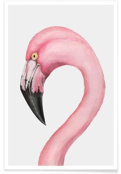 Flamingo als Premium Poster door typealive | JUNIQE