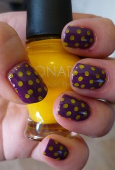 Show your JMU Dukes pride to the tips of your fingers!  Grab some purple & gold polish and start painting!