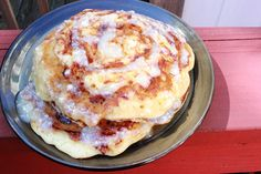 cinnabun pancakes from scratch! simple and just like a cinnabun!