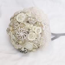 Button and diamante bouquet