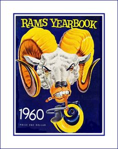 Vintage LA Rams 1960 Poster, Dad Brother Gift for Men Women, Retro Football Fan Wall Art, Bar Wall Decor, Free Ship Retro Football, Football Wall, Nfl Football, Football Memes, Vintage Football, Ram Wallpaper, Yearbook Covers, Yearbook Spreads, La Rams