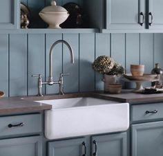 Kohler Whitehaven sink -enameled cast iron farm sink - Kohler via Atticmag