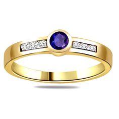 Diamond Pcs :6 pcs Diamond Wt :0.12 cts Diamond Colour :I / J Diamond Clarity :VS  Oval Sapphire pcs :1 pc Oval Sapphire Wt :0.50 cts Gold Wt :2.000 gms Gold Purity :18 kt