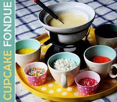 Cupcake Fondue = cool party idea