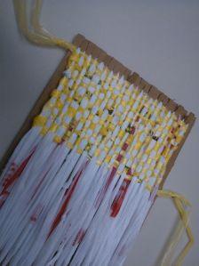 Weaving with plarn (plastic yarn)