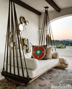 Loggia #homedecor #hammocks
