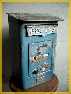 antique french mailbox for the gift table