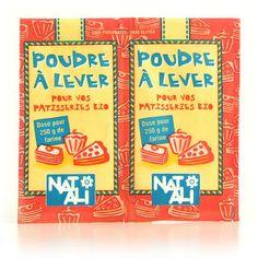 Nat-Ali - Poudre à lever sans gluten et sans phosphate  (alternative à la levure)