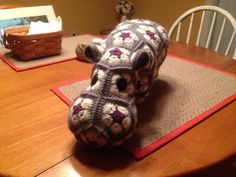 Crochet African Flower Hippo by PNDesignsKK on Etsy
