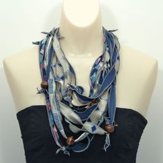 Necklaces from men's ties - Lulu's Upcycling Lounge