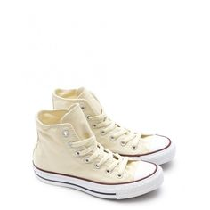 Converse Chuck Taylor All Star Hi Top Sneakers ($78) ❤ liked on Polyvore featuring shoes, sneakers, converse, white, white shoes, baseball shoes, hi tops, high top shoes и converse sneakers