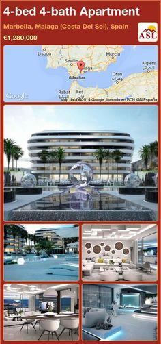 Apartment for Sale in Marbella, Malaga (Costa Del Sol), Spain with 4 bedrooms, 4 bathrooms - A Spanish Life Apartments For Sale, Luxury Apartments, Luxury Homes, Costa, Garden Floor, Curve Design, Common Area, Pent House, Tropical Garden