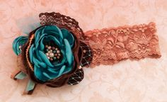 Autumn Breeze Vintage inspired boutique headband- photo prop- fall couture- shabby chic- Persnickety- Made by Mckenzie Grace Designs