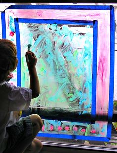 Window Painting: Rainy Day Activity for Kids