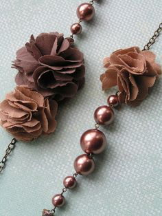 Chocolate shaded necklace