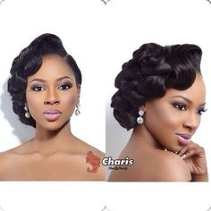 Black Wedding Hairstyles Beautiful Pin Up For The Bride Weddings On Pointafrican American